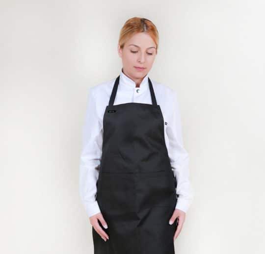 Ποδιά μαγείρων με μεγάλη τσέπη στην μέση.