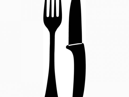 Chef's knife & fork embroidery